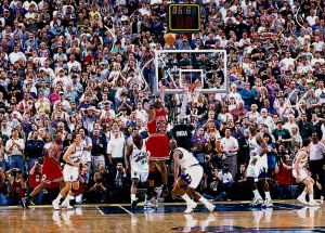 My favorite memory of Jordan: hitting the game winning shot, in Utah, over Bryon Russell of the Jazz to win Game 6 of the 1998 Finals, and the championship.