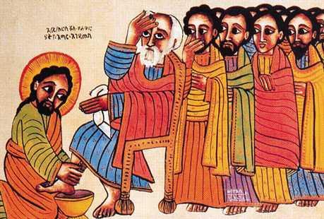 Christ washing the feet