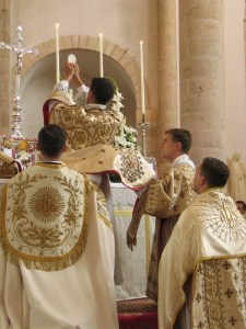 A traditional Latin Mass. Also known as the Extraordinary Form or the Mass of the Ages.