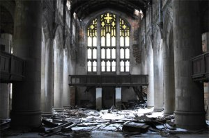 Abandoned Church, Gary, Indiana (Source: weburbanist.com)